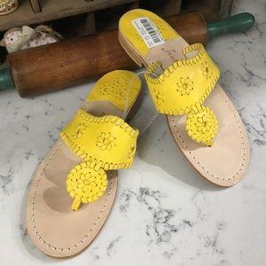 Jack Rogers Womens Jacks Flat Sandals Yellow 8M